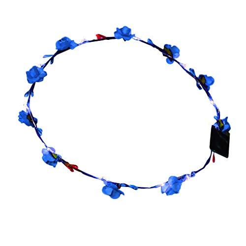 Lomsarsh LED Blume Crown Party Glow Stirnband, 1 STÜCKE Kranz Stirnband Leucht Kopfschmuck Blume Kopfschmuck für Mädchen Frauen Hochzeit Festival Urlaub Weihnachten Halloween Party