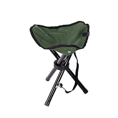 Chaise de camping Tabouret pliant portable pour le camping, la pêche, les jeux, barbecue, etc.–29x 29x 35cm, Green