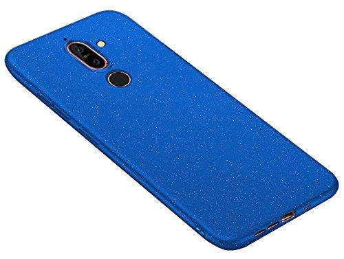 Baanuse Nokia 6.1 Plus Hülle, [Ultra Slim Weich TPU] [Sand scheuern Rutschfest] [Stoßfest Rüstung] Schutzhülle für Nokia 6.1 Plus Blau