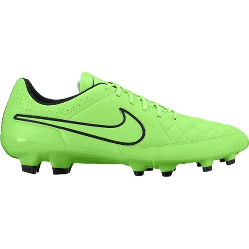 Nike Herren Tiempo Genio Leather Fg Fußballschuhe, UK Cargo Khaki/Voltage Green-Black-White