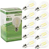 10x Westlicht Filament | E27 4W 440 Lumen LED | Leuchtmittel AC 230V 270° warmweiß