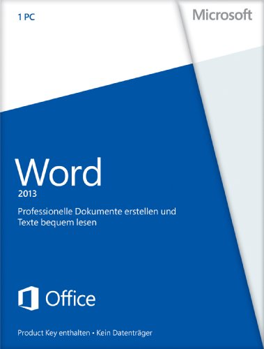 Microsoft Word 2013 - 1PC (Product Key Card ohne Datenträger)