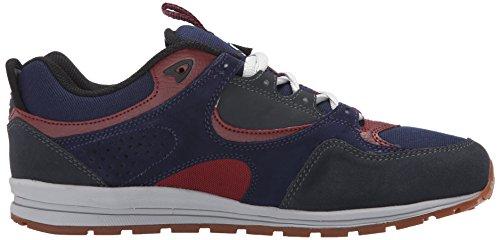 DC Men's Kalis Lite Skate Shoe, Black/Lime, 6 M US Navy/Grey
