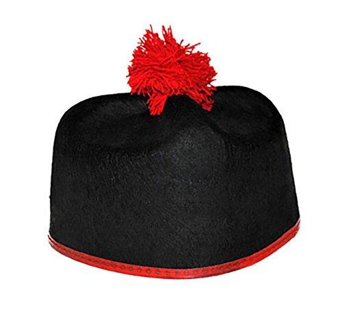 Halloweenia - Priester Hut - Kostüm Geistlicher Kappe, Schwarz