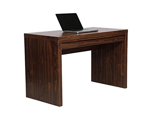 Tribeca Walnut Desk Home Office Storage Drawer Computer Workstation - 120CM Wide