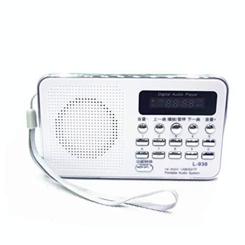 Preisvergleich Produktbild Mouchao Tragbare MP3-Lautsprecher-Player LCD-Digital-Mini-FM-Radio-Lautsprecher USB SD TF-Karte weiß