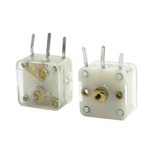 Preisvergleich Produktbild Drehkondensator - TOOGOO(R)2 Stueck 223F Stil Dual 20pF Drehkondensator fuer FM Radio