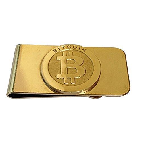 Fa.Wessel Bitcoin Geldklammer Money Clip Geldclip Geldscheinklammer Geldspange echt vergoldet BTC