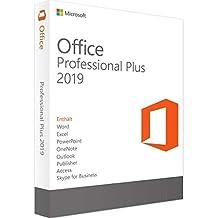 MS Office 2019 Professional Plus - 32 & 64 Bit - LIZENZ KEY - Aktivierungscode + Anleitung per E-Mail+Postversand - 32 & 64 Bit - 1 Aktivierung / 1 PC