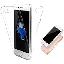 iPhone se/5/5s móvil, yoowei TPU Full Body 360 ° transparente Cover completa silicona Double Touch Funda Carcasa Fina Para IPHONE se/5/5s