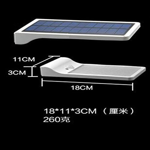 Q&D Solar 36LED sensor wandleuchte drei-funktion lampe villa gartenbeleuchtung im freien helle zaun verlängerungsstange , white shell