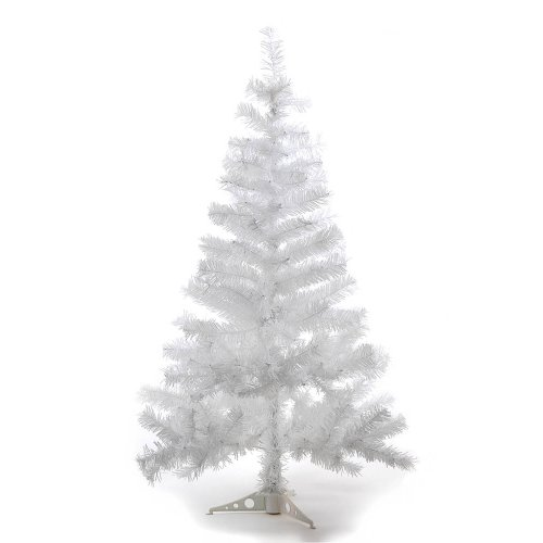 Hab & gut (xm034) albero di natale artificiale / abete colorato bianco - altezza: 120 cm