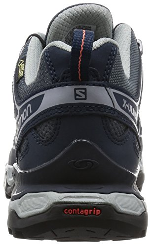 Salomon Damen X Ultra 2 Gtx Trekking-& Wanderhalbschuhe Grau (Grey Denim/DEEP BLUE/Melon BLOOM)