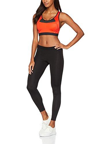 Iris & Lilly Damen  Medium Impact Sport-BH Orange (Papayana/Black Papayana/Black)