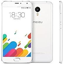 """MEIZU METAL de 5,5"""" pulgadas 4G con procesador Helio X10 Octa Core 2.0GHz, con 2GB RAM y 16GB de memoria interna. Cámara frontal de 5Mpx y trasera de 13Mpx con flash. Android 5.1. BLANCO"""