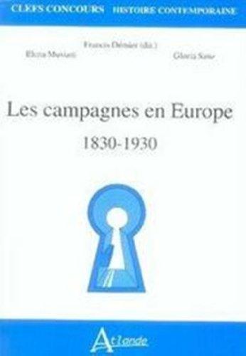 Les campagnes en Europe, 1830-1930