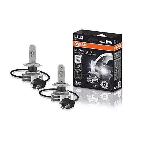 OSRAM LEDriving HL, codice Corrispondente ECE H4, Ultima Generazione, proiettore LED, Sostituzione alogena, 9726CW, 12/24V, Astuccio (2 lampade), Bianco Freddo, Set di 2
