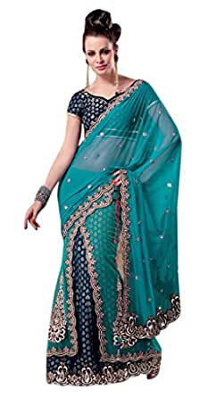 Embroidery Lehenga Saree With Unstitch Blouse-2514