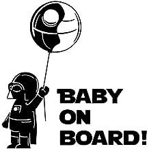 Baby On Board Darth Vader Star Wars Pegatina Ventana de coche camión Decoración De Vinilo (Negro)