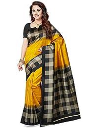 Ishin Bhagalpuri Art Silk Yellow & Black Party Wear Wedding Wear Casual Daily Wear Festive Wear Bollywood New...