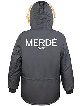 Merde Paris Parka Girls Nero Certified Freak