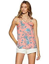 8d0d535f86736 Stalk Buy Love Women s Crepe Floral Elle Cut Out Top
