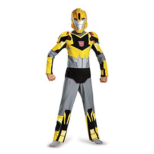 Bumblebee Kostüm Classic Kind - Disguise Bumblebee Animated Classic Large (10-12)