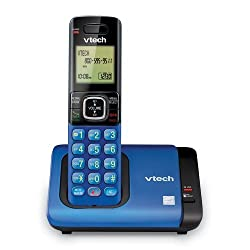 VTech CS6719-15 DECT 6.0 Cordless Phone with Caller ID/Call Waiting, 1 Cordless Handset , Blue