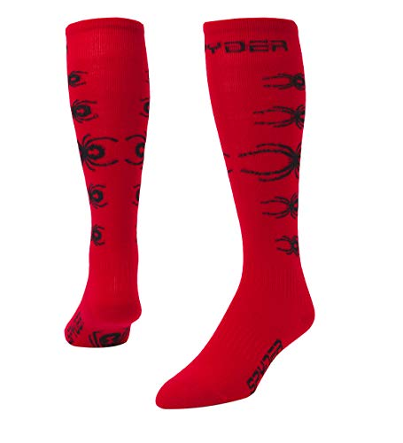 Spyder Boys' Bug Out Socks, Red/Black, Medium Spyder Boys Bugs