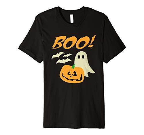 Boo Halloween-Geist schlägt Jack O Lantern Unisex-T-Shirt