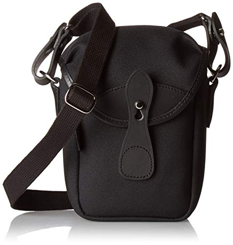 Billingham 72 Kameratasche aus schwarzem Fiberny-Leder