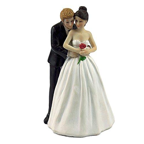 Hecho de pintura de resina sintética, durable, ligero, resistente a la corrosión, no radiactivo Adecuado para pasteles de boda, muy interesante, hace que la boda sea más romántica.  La boda es uno de los momentos más memorables de la vida. Esta elega...