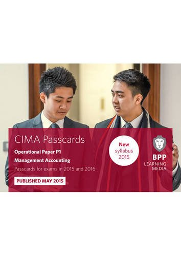 CIMA P1 Management Accounting: Operational paper P1: Passcards