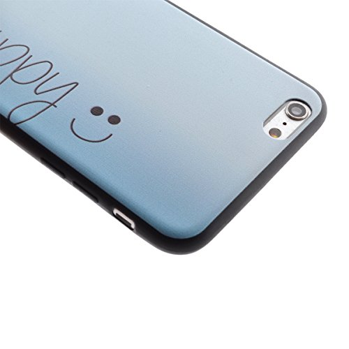 iPhone 6 Silicone Case,iPhone 6S Coque - Felfy Coque Souple Transparente TPU Silicone en Gel Case Premium Ultra-Light Ultra-Mince Skin de Protection Pare-Chocs Anti-Choc Bumper pour Apple iPhone 6/6S  Be Happy