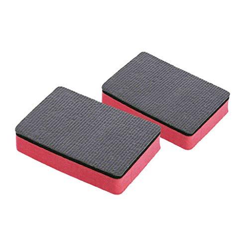 Finebuying 4 Stücke Auto Reinigungsbürste Auto Reinigungsschwamm Magic Clay Schwamm Bar Auto Pad Block Reinigung Radiergummi Wachs Polnischen Pad Werkzeug (Rot) -