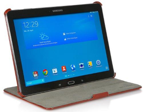 StilGut UltraSlim Case V2, Tasche mit Stand- & Präsentationsfunktion für Samsung Galaxy TabPRO 10.1, Cognac Vintage