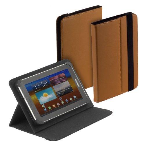 yayago Tablet Book-Style Tasche in Braun mit Standfunktion - Ultra Flach - für Samsung Galaxy Tab (GT-P1000/M16)