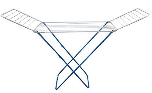 rg-vertrieb Wäscheständer Flügelwäschetrockner blau Wäschetrockner Wäsche Trocknen 18m Länge 184cm x 50cm x 102cm