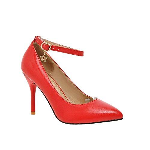 Guoar , Bride cheville femme Rouge