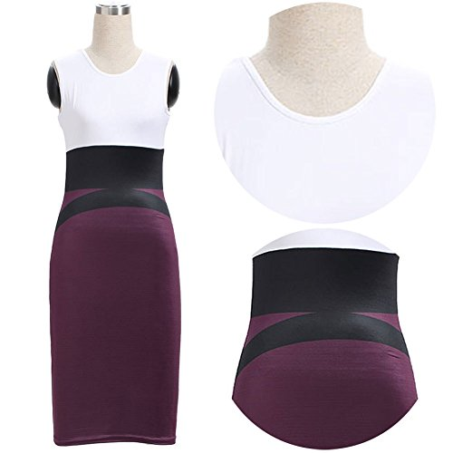 Smile YKK Femme Robe Couleur Mélange Fashion Slim Hip-package Violet