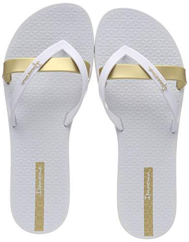 Ipanema Damen Kirei Fem Zehentrenner Mehrfarbig (White/Gold 9159) 41/42 EU