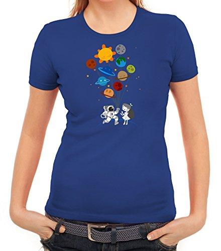 Geschenkidee Damen T-Shirt mit Valentine Love Motiv von ShirtStreet Royal Blau