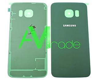 Original Samsung Akkudeckel green / grün für Samsung G925F Galaxy S6 Edge (Akkufachdeckel, Batterieabdeckung, Rückseite, Back-Cover) - GH82-09602E