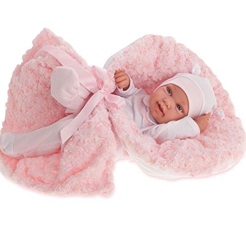 ANTONIO JUAN Recien Nacida Pipa Arrullo Bambola Realistica, Colore Bianco/Rosa, AJ5006