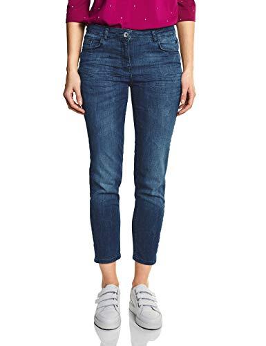 Cecil Damen 372005 Toronto Slim Jeans, Light Blue Used wash, W33/L28 (Herstellergröße: 33)