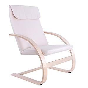 Songmics Poltrona Dondolo Sedia Relax Rocking Chair