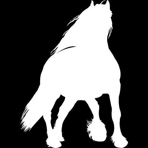 2 stücke, 16 cm * 11,6 cm Tier Pferd Mode Vinyl Auto Aufkleber Motorrad Aufkleber Autozubehör Autoaufkleber Auto Aufkleber Silber