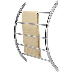bremermann Porte-serviette pour fixation murale assorti de 5 barres en métal (chromé)