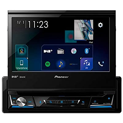 Pioneer Z710Tuner 1DIN Car Radio, Dab + Digital Radio Media Clear Resistive Touchscreen Bluetooth Receiver–7inch Android Tablet Black