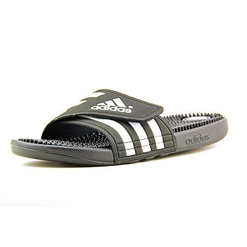 adidas Men's Adissage W Slide Sandal, BK/Blue, B(M) US